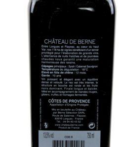 Château de Berne Cuvée Château Rouge - 2013